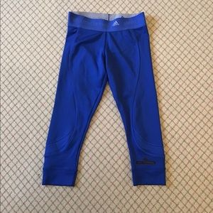 Adidas x Stella McCartney cropped electric blue